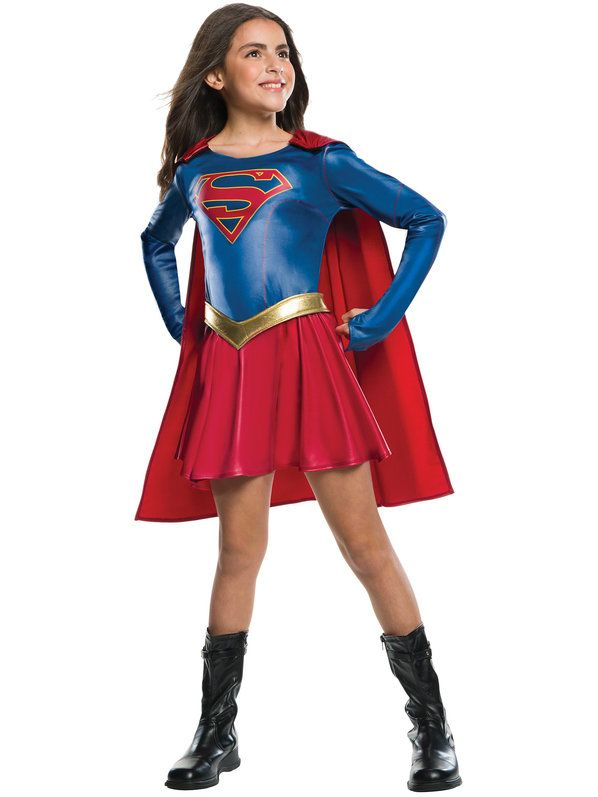 Check out Supergirl TV Show Girls Costume - Girls Superheroes Halloween Costumes…
