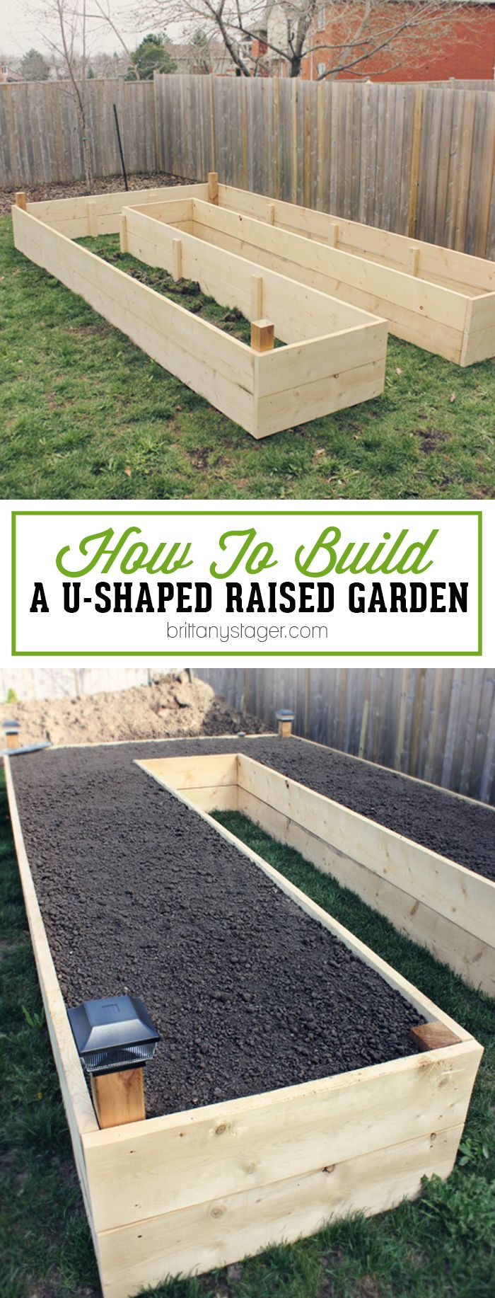 Spring is the perfect time to get your brand new garden in order. Building a U-Shaped Raised Garden Bed offers many advantages including easy of access, scale, and protection from animals. This easy how-to guide provides you will a drawing and rendering of a u-shaped raised garden bed, making it easy for you to build one yourself. {via BrittanyStager.com}