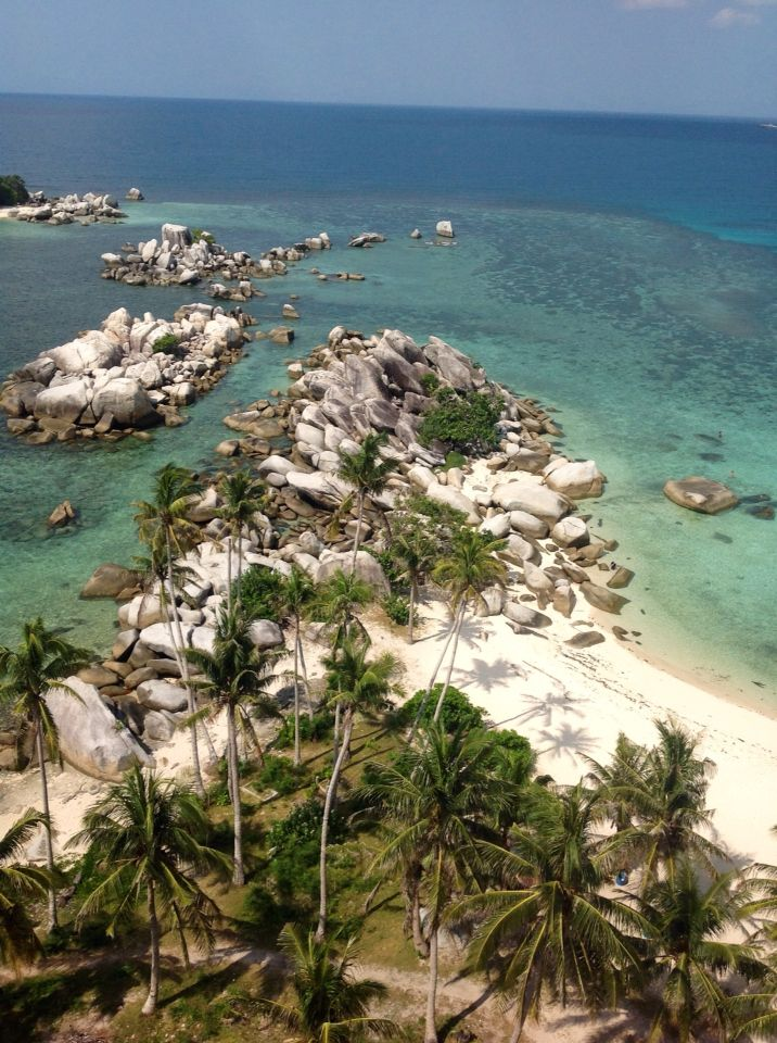 Scenery from lengkuas lighthouse..