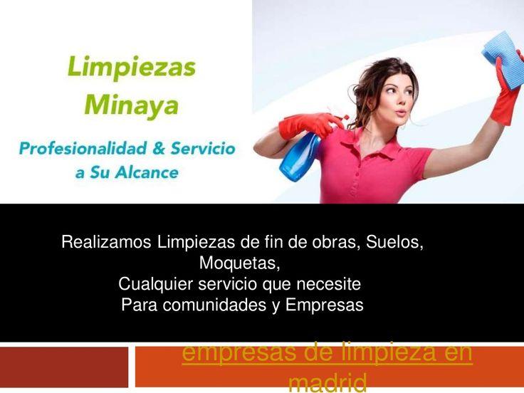 Empresas limpieza madrid by limpiezasminaya via slideshare