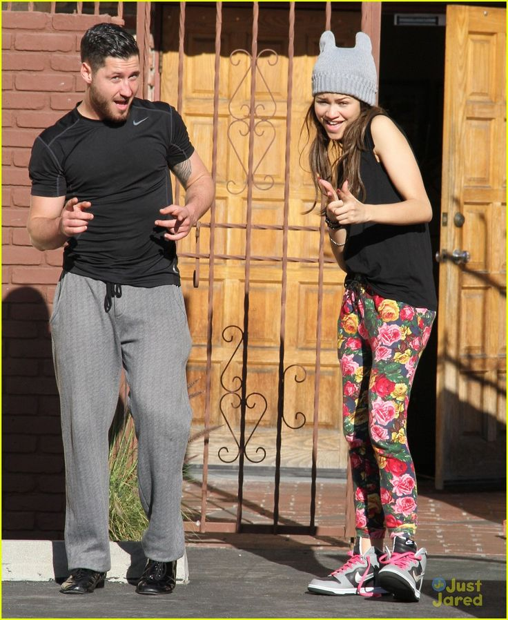 zendaya val secret handshake 11, Zendaya and pro partner Val Chmerkovskiy share a secret handshake as they arrive for practice in Los Angeles on Saturday afternoon (March 30).    The Dancing With…