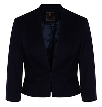 Sienna Notched Collar Crop Jacket - SABA a basic jacket that is very chic