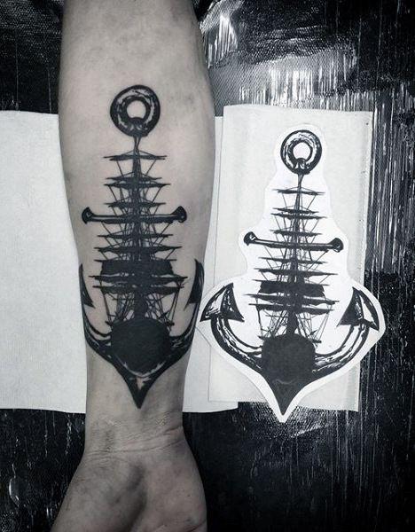 100 nautische Tattoos für Männer – Slick Seefahrt Design-Ideen