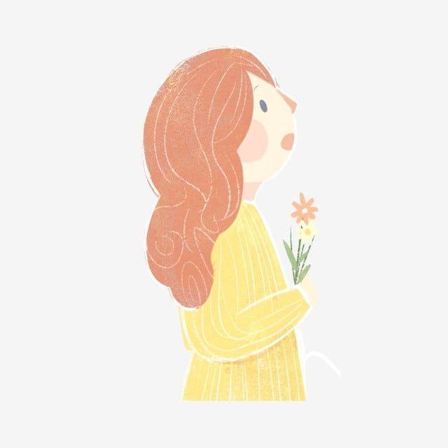 ต วการ ต นผ หญ งผมแดงถ อดอกไม ป า เส อเหล อง ดอกไม ป า ผมแดงภาพ Png และ Psd สำหร บดาวน โหลดฟร ดอกไม ป า การ ต น ภาพประกอบ