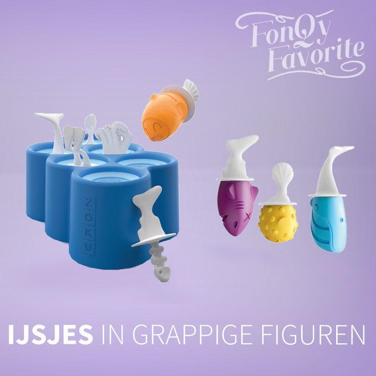 Hoe leuk zijn deze ijsjes in de vorm van een haai, walvis of duiker? #fonqyfavorite #ice