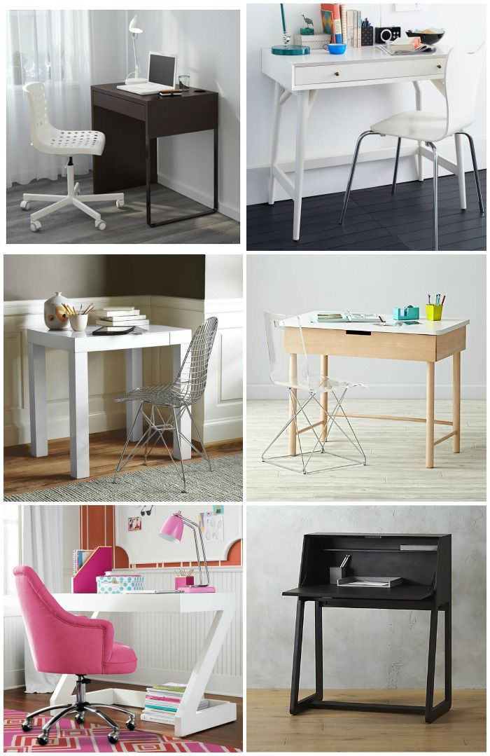 9 cool modern kids' desks that don't feel like kids' desks at all. Perfect for all small spaces!