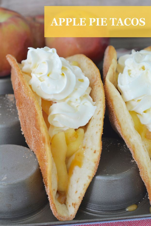 We all love tacos for dinner, but have you ever had tacos for dessert? This Salted Caramel Apple Pie Taco recipe is a perfect fall treat, and it's easier than you might think.