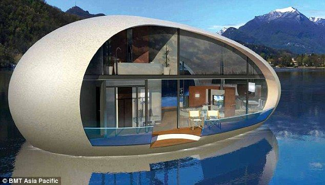 A two story version of the SeaScaoe is also available to accommodate families. At the centre of the floating villa is an acrylic underwater cylinder located in the centre of the home that drops into the ocean to offer a 360 degree underwater viewing experience.
