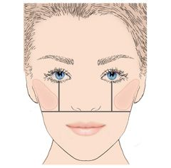 blush placement  | Follow the guidelines below for a corrective blush technique that ...