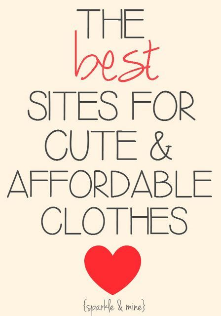 The Best Sites to Shop for Trendy and Affordable Clothes! | sparkle & mine