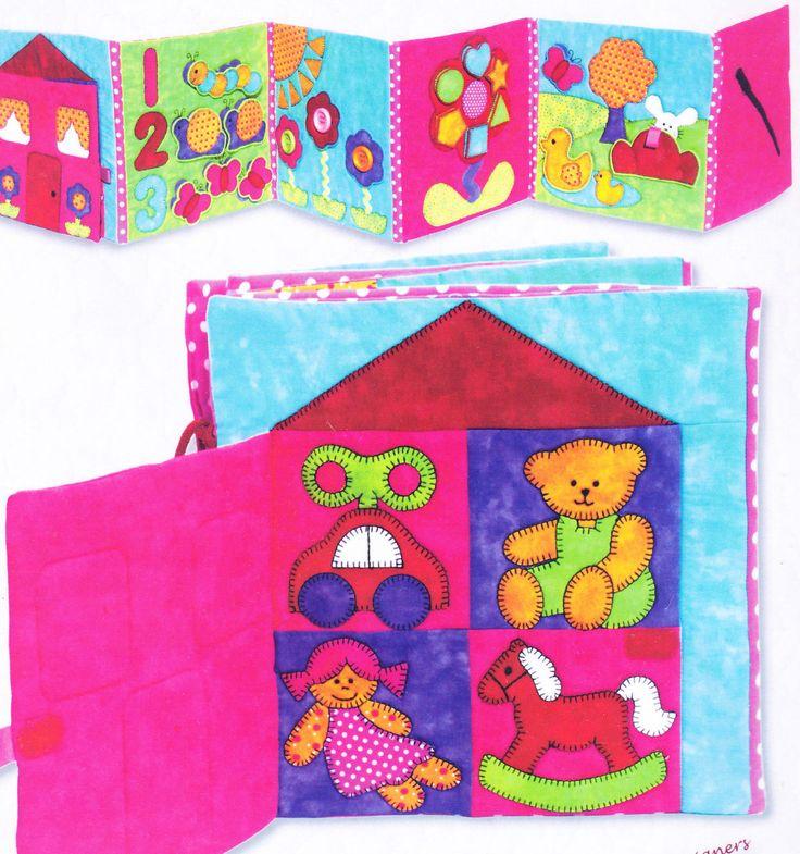 Vzor Buggy Garden Quiet Book Nášivky poskládal vzor Dětské deky | eBay
