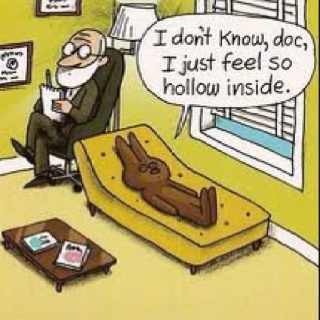 A narcissistic chocolate bunny being honest. We can all dream, right? Pinned from www.debbiecharles.com