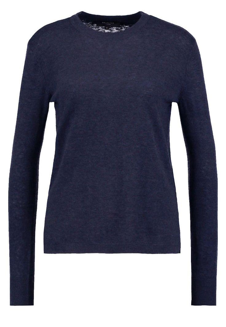 Gebreide truien Selected Femme SFMAIA - Trui - navy blazer Blauw: € 49,95 Bij Zalando (op 9-10-16). Gratis bezorging & retournering, snelle levering en veilig betalen!