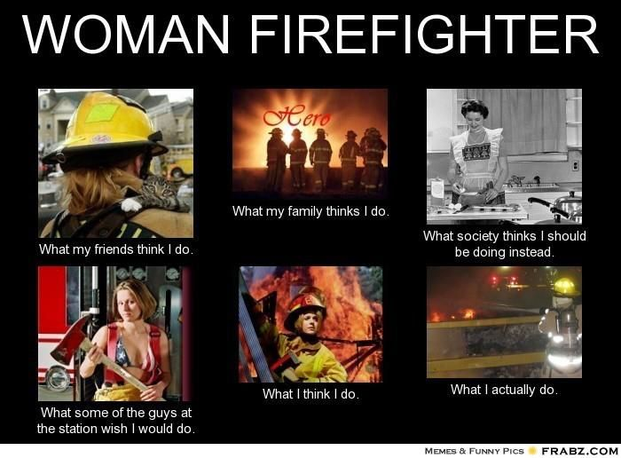 Woman / Female / Girl / Lady Firefighters.