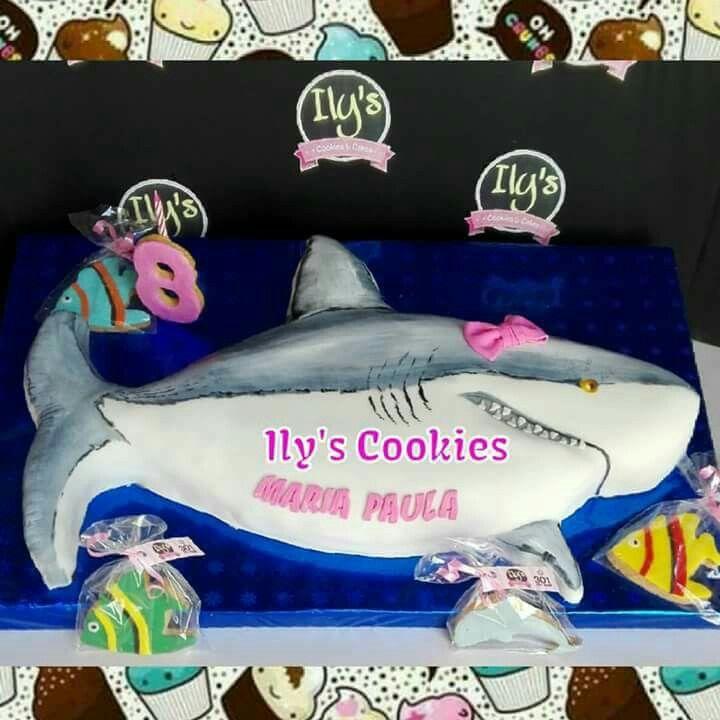 Torta Tiburón. Tiburón Cakes *•.¸♥♥¸.•*Ily´s Cookies*•.¸♥♥¸.•*