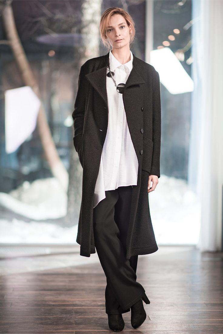 Купить Пальто А-силуэт, букле от Lesel (Лесель) российский дизайнер одежды