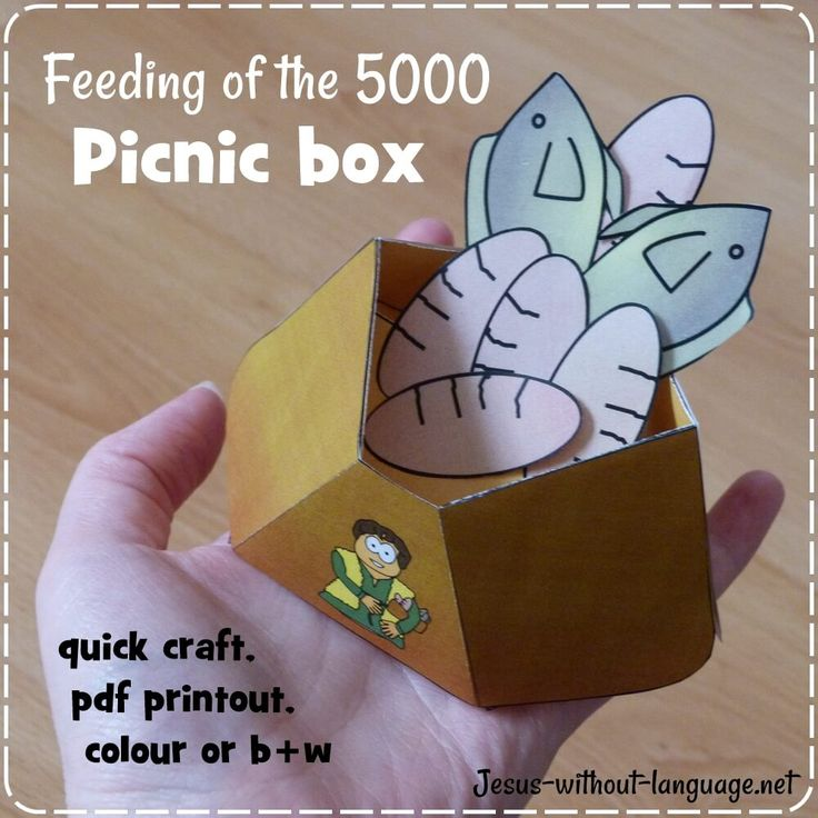 Picnic+box+for+feeding+of+the+5000+#Jesuswithoutlanguage