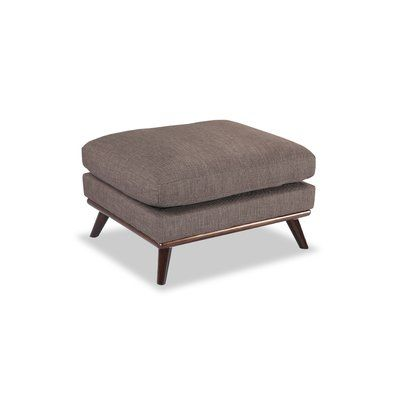 Corrigan Studio Luther Mid-Century Modern Ottoman Body Fabric: French Press Twill