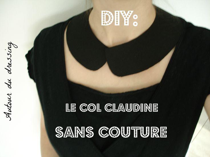 DIY col claudine sans couture