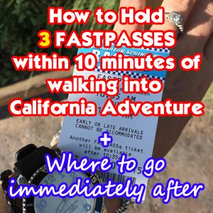 UPDATED June 2016 This is actually quite an easy thing to do, but not many people know it's possible. Within 10 minutes of entering the park, you could be holding 2 FASTPASSES and a lot of your day will be set up. OR......you could be holding 3 if you want to see Frozen - Live at the Hyperion...