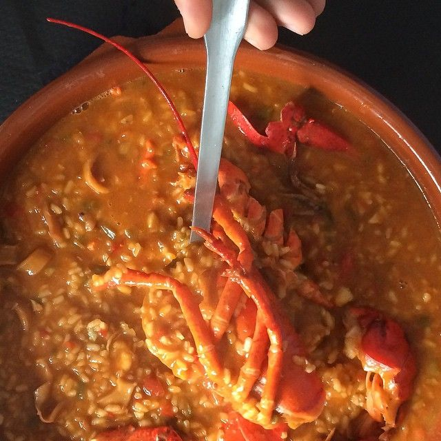 Arroz Caldoso - Spanish Rice with Lobster  © Image copyright: Andrew Forbes www.andrewforbes.com #Luxury #Travel #Hotels #Restaurants #Culture #Lifestyle #luxurytravelpursuits #luxestyletravel
