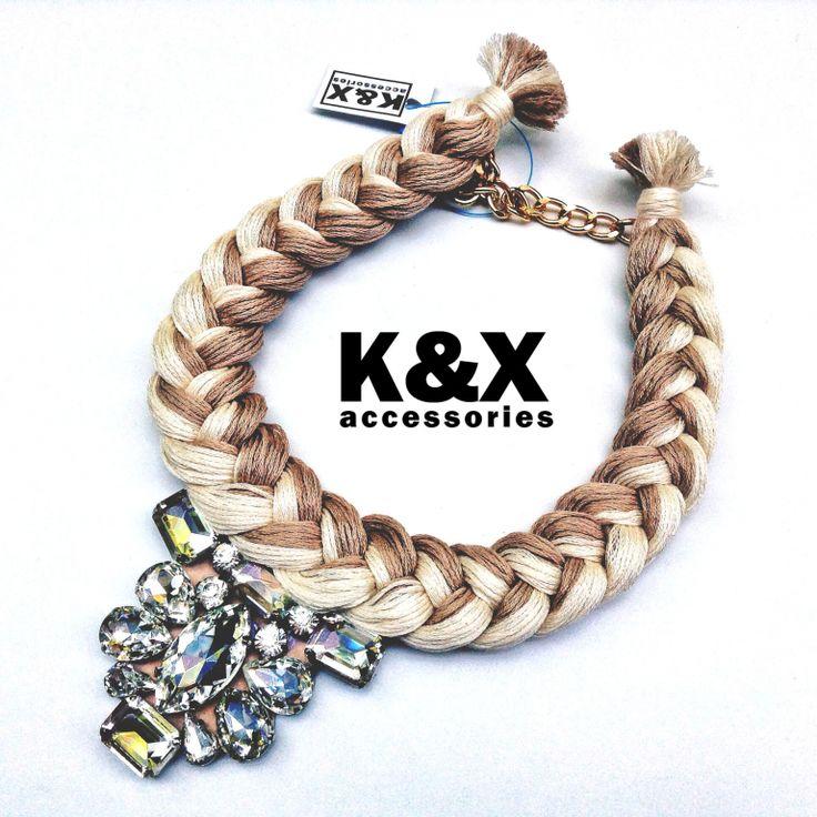 Vegas Beige 2  112 USD Made in Ukraine. Ready to order! #onlinestore #kxfashion #statementnecklace #ukraine #odessa #rainbow #kxvegas #beige #necklace #fashion #Jewelry #glam #fashion #handmade