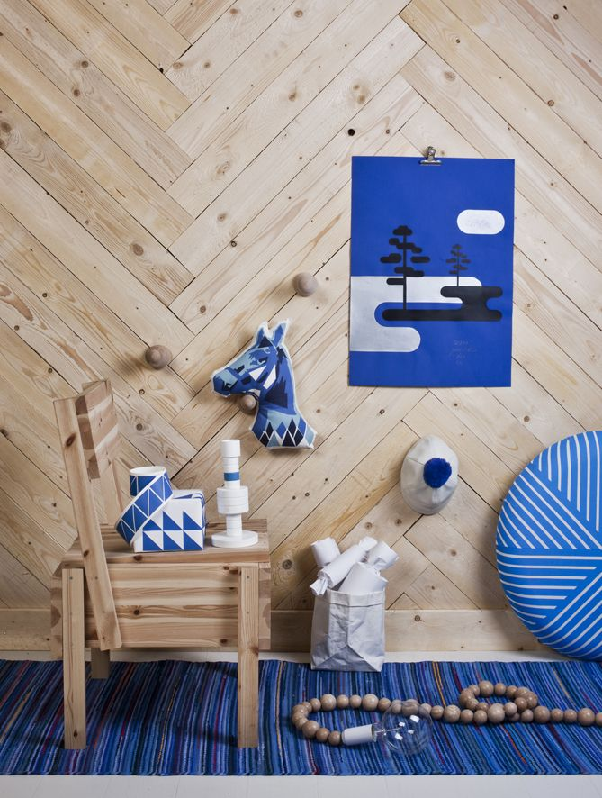 susanna ventoInteriors Style, Features Wall, Cobalt Blue, Interiors Design, Susanna Vento, Chevron Wall, Wall Texture, Wood Wall, Design Blog