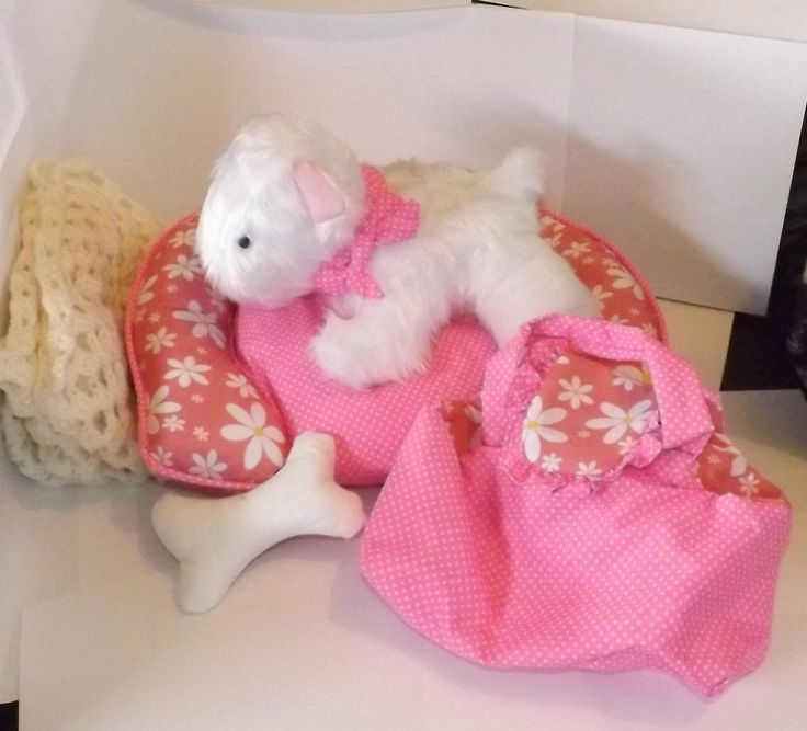 Excited to share the latest addition to my #etsy shop: handmade toy dog plush puppy and accessories girls xmas gift toy http://etsy.me/2D8zzkH #toys #white #christmas #pink #dog #girlsgift #xmas #toy #softtoy
