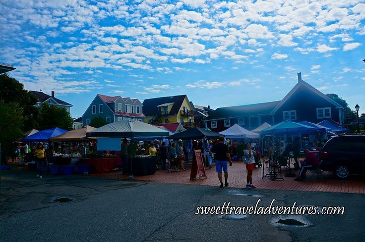 Outdoor Farmers' Market in St. Andrews-by-the-Sea, New Brunswick, Canada
