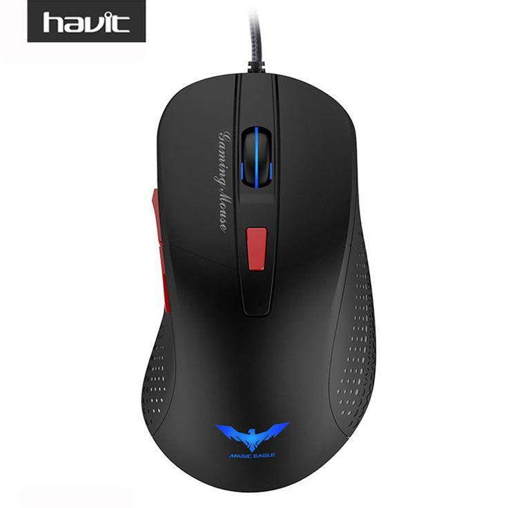 Havit wired gaming mouse óptico usb llevó las luces del ratón gamer 2800 DPI con 6 Botones Para PC Portátil de Escritorio Juego de Ordenador HV-MS745
