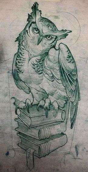 Каталог эскизов с совами: свободные эскизы и идеи для разработки индивидуального дизайна тату. Часть #2.