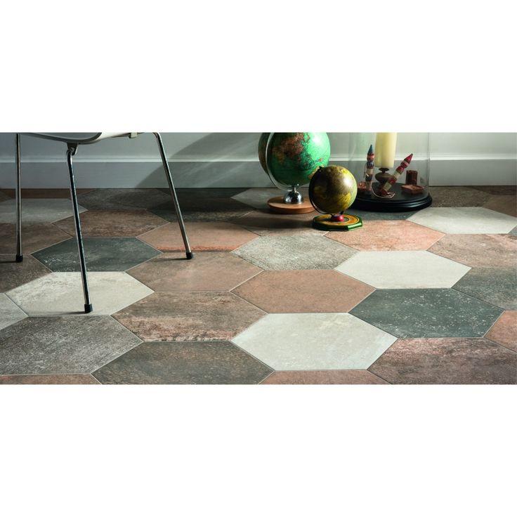 1000 id es propos de carrelage terre cuite sur pinterest for Carrelage hexagonal sol