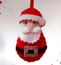 DoCrafts Mini Soft Christmas Kits - Santa.  Perfect for making your own Xmas Tree Decorations. Just love his big pink nose :-)