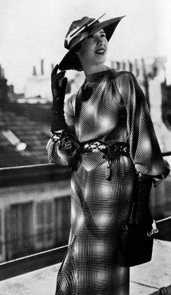 Worth Dress - April 1936 - Les Modes