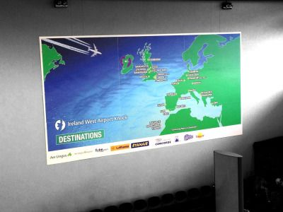 Project: Advertising banner Client: Ireland West Airport Knock