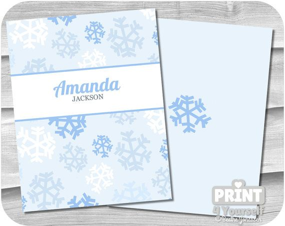 Personalized Erin Condren Snowflake Cover by Print4Yourself