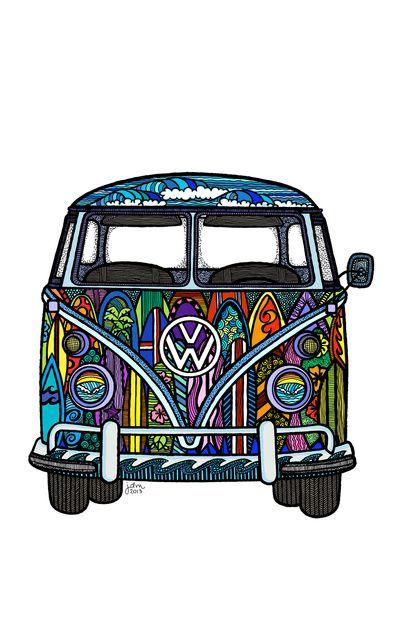 Volkswagen Surf Van Art Print