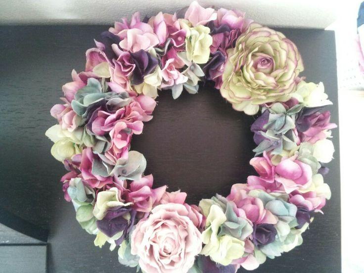 アンティーク調 紫陽花リース