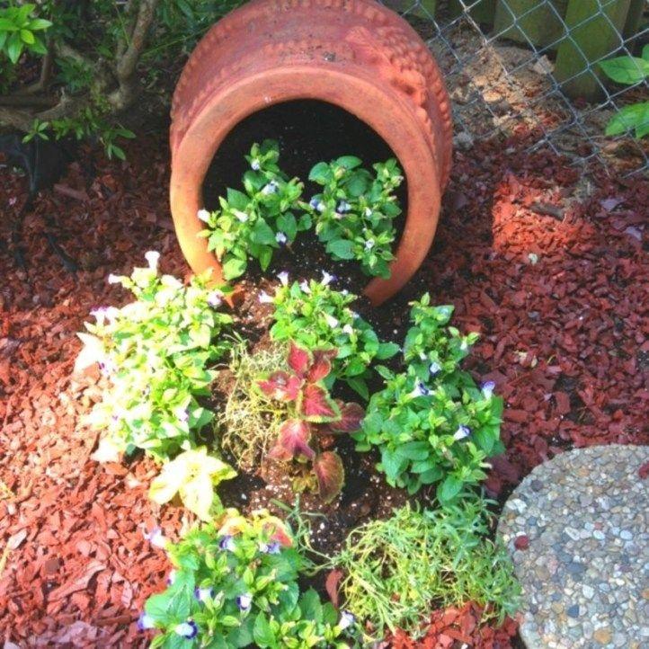 Best Spilled Flower Pot Ideas To Going Spring 09 In 2020 Flower Pots Outdoor Flower Pots Garden Diy On A Budget