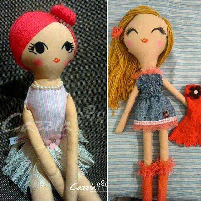 Una bella bailarina de ballet, y una bella rubia muy risueña con cambio de vestido!!! Todas exclusivas, pintadas a mano, fabricadas a mano, ideales para jugar y dormir con ellas, ya que son lavables y no tiene partes duras!!! Desde $20.000  #muñeca #muñecasdetela  #amor #moda #niños #niñas #juguetes #peponas #decoracion #ropa #bailarina #ballet #cazziadolls #hechoamano