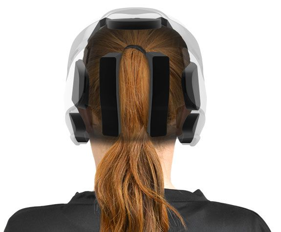 Softball Helmets made to fit comfortably with pony or pig tails. What every softball player with long hair needs!