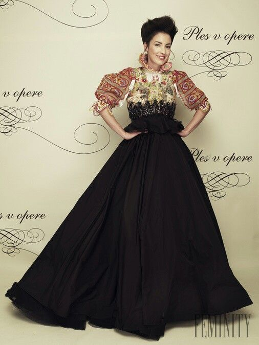 Tamara Heribanova Gown inspired by slovak folclore