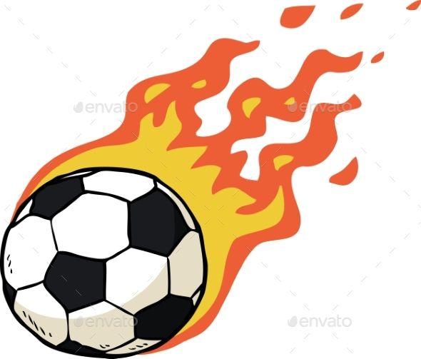 Fire Soccer Ball Soccer Ball Cool Cartoons Soccer