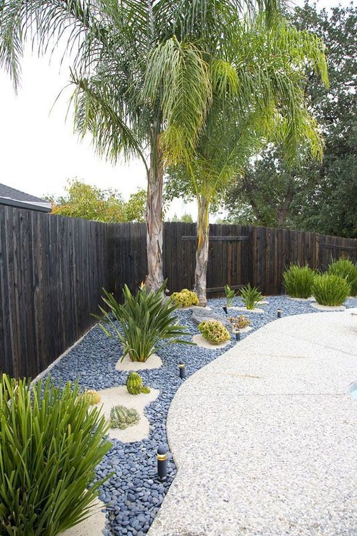 Nice 40 Simple Rock Garden Decor Ideas For Your Front Or Back Yard Lovelyving Co Garden Decors Hinterhof Garten Palmen Garten Garten Landschaftsbau