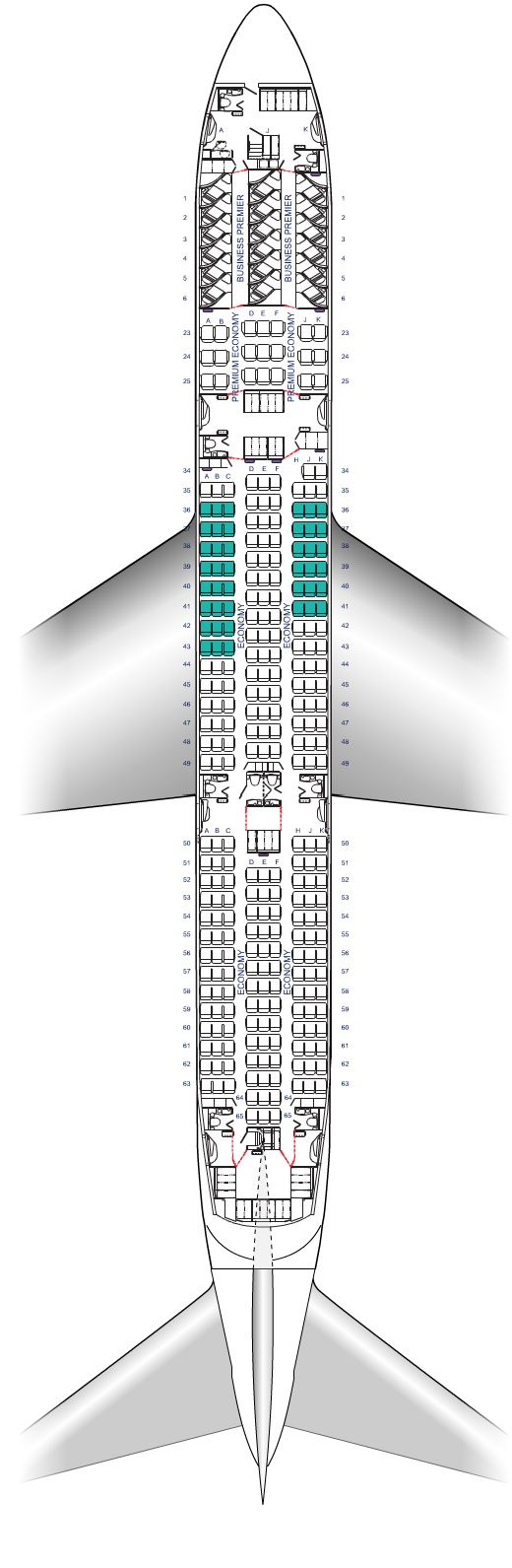 Air New Zealand Boeing 787-9 Dreamliner Seat Map Diagram Released