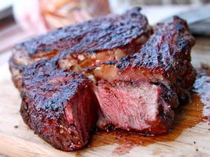 Barbecue-Rubbed Pork Shoulder With Stovetop Rhubarb Ketchup   Serious Eats : Recipes