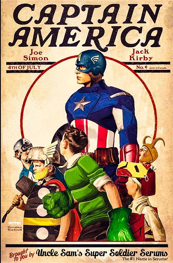 Captain America - brought to you by Uncle Sam
