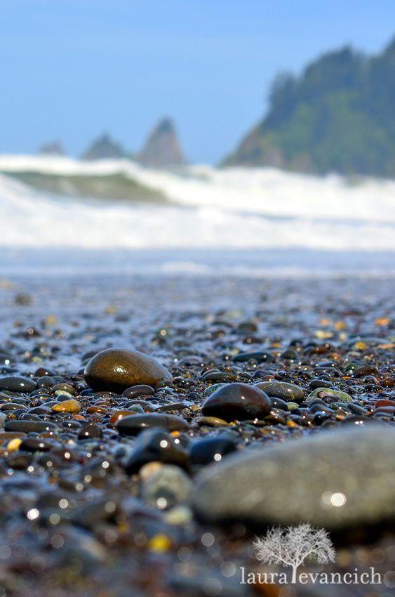 Water & Rocks | Rialto Beach, Forks, Washington | Olympic Peninsula | Laura Evancich photography