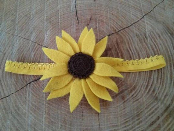Sunflower Headband Headband Headbands Baby Girl Headbands