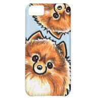 Red Pomeranian Paws Up Cover For iPhone 5C
